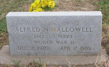 HALLOWELL, ALFRED N. - Thurston County, Nebraska | ALFRED N. HALLOWELL - Nebraska Gravestone Photos