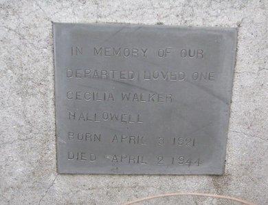 HALLOWELL, CECILIA - Thurston County, Nebraska   CECILIA HALLOWELL - Nebraska Gravestone Photos