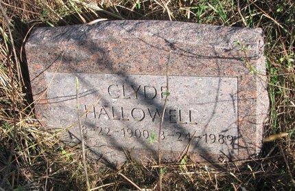 HALLOWELL, CLYDE - Thurston County, Nebraska | CLYDE HALLOWELL - Nebraska Gravestone Photos