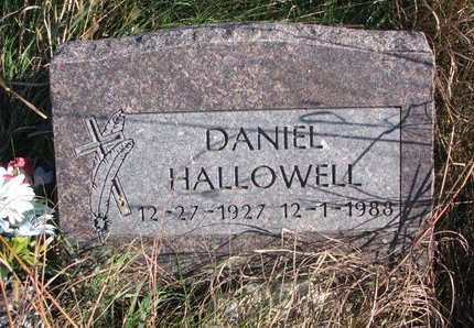 HALLOWELL, DANIEL - Thurston County, Nebraska   DANIEL HALLOWELL - Nebraska Gravestone Photos