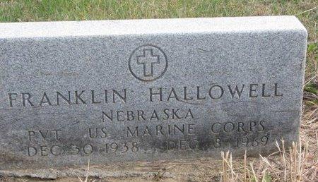 HALLOWELL, FRANKLIN - Thurston County, Nebraska   FRANKLIN HALLOWELL - Nebraska Gravestone Photos
