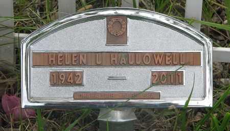 HALLOWELL, HELEN L. - Thurston County, Nebraska | HELEN L. HALLOWELL - Nebraska Gravestone Photos