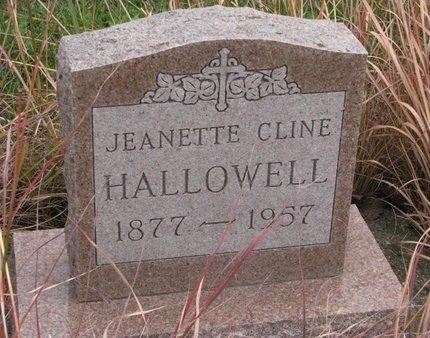 HALLOWELL, JEANETTE - Thurston County, Nebraska   JEANETTE HALLOWELL - Nebraska Gravestone Photos