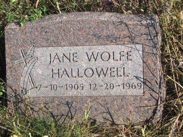 HALLOWELL, JANE - Thurston County, Nebraska | JANE HALLOWELL - Nebraska Gravestone Photos