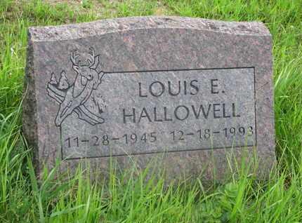 HALLOWELL, LOUIS E. - Thurston County, Nebraska | LOUIS E. HALLOWELL - Nebraska Gravestone Photos