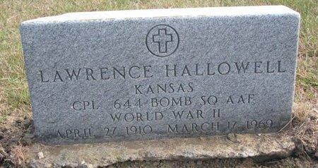 HALLOWELL, LAWRENCE - Thurston County, Nebraska | LAWRENCE HALLOWELL - Nebraska Gravestone Photos