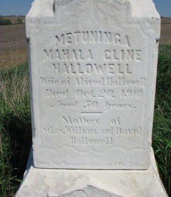 CLINE HALLOWELL, MAHALA (CLOSE UP) - Thurston County, Nebraska | MAHALA (CLOSE UP) CLINE HALLOWELL - Nebraska Gravestone Photos
