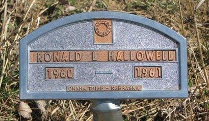 HALLOWELL, RONALD L. - Thurston County, Nebraska   RONALD L. HALLOWELL - Nebraska Gravestone Photos