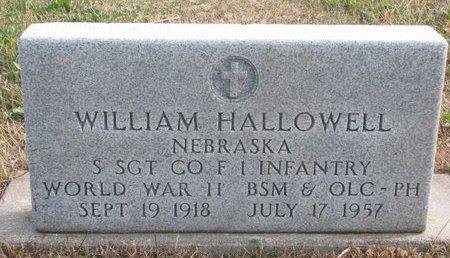 HALLOWELL, WILLIAM - Thurston County, Nebraska   WILLIAM HALLOWELL - Nebraska Gravestone Photos