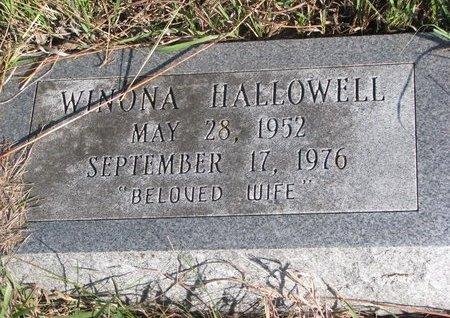 HALLOWELL, WINONA - Thurston County, Nebraska | WINONA HALLOWELL - Nebraska Gravestone Photos