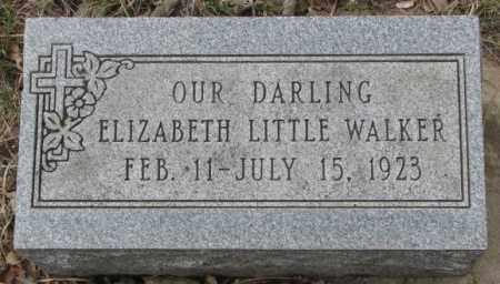 LITTLE WALKER, ELIZABETH - Thurston County, Nebraska   ELIZABETH LITTLE WALKER - Nebraska Gravestone Photos