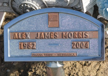 MORRIS, ALEX JAMES - Thurston County, Nebraska | ALEX JAMES MORRIS - Nebraska Gravestone Photos