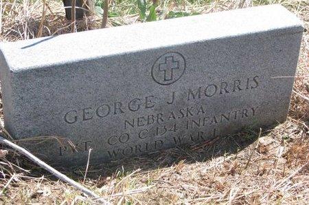 MORRIS, GEORGE J. - Thurston County, Nebraska | GEORGE J. MORRIS - Nebraska Gravestone Photos