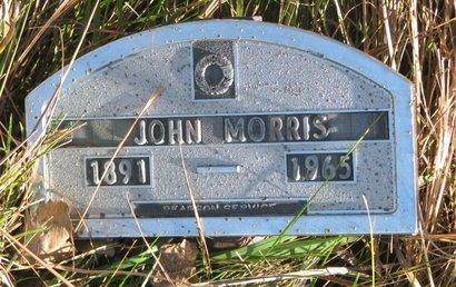 MORRIS, JOHN - Thurston County, Nebraska | JOHN MORRIS - Nebraska Gravestone Photos