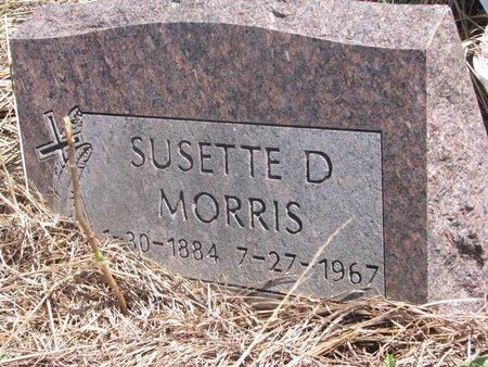 MORRIS, SUSETTE D. - Thurston County, Nebraska | SUSETTE D. MORRIS - Nebraska Gravestone Photos