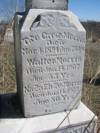 MORRIS, TWO CROW (CLOSE UP) - Thurston County, Nebraska | TWO CROW (CLOSE UP) MORRIS - Nebraska Gravestone Photos