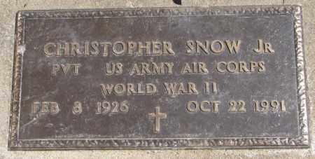 SNOW, CHRISTOPHER JR. - Thurston County, Nebraska | CHRISTOPHER JR. SNOW - Nebraska Gravestone Photos