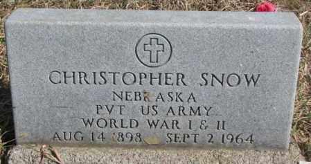 SNOW, CHRISTOPHER - Thurston County, Nebraska | CHRISTOPHER SNOW - Nebraska Gravestone Photos