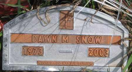 SNOW, DAWN M. - Thurston County, Nebraska | DAWN M. SNOW - Nebraska Gravestone Photos