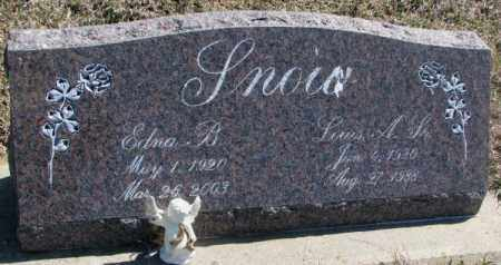 SNOW, EDNA B. - Thurston County, Nebraska | EDNA B. SNOW - Nebraska Gravestone Photos