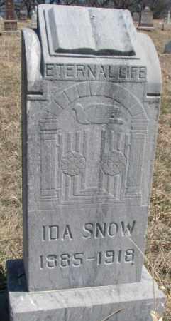 SNOW, IDA - Thurston County, Nebraska | IDA SNOW - Nebraska Gravestone Photos