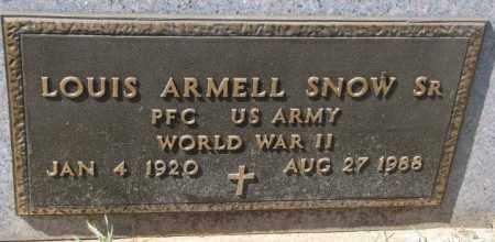 SNOW, LOUIS ARMELL SR. - Thurston County, Nebraska | LOUIS ARMELL SR. SNOW - Nebraska Gravestone Photos