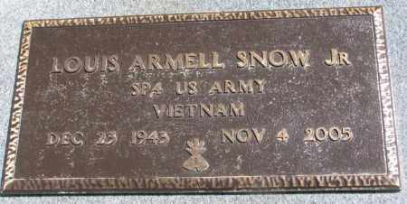 SNOW, LOUIS ARMELL JR. - Thurston County, Nebraska | LOUIS ARMELL JR. SNOW - Nebraska Gravestone Photos