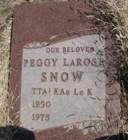 SNOW, PEGGY - Thurston County, Nebraska | PEGGY SNOW - Nebraska Gravestone Photos