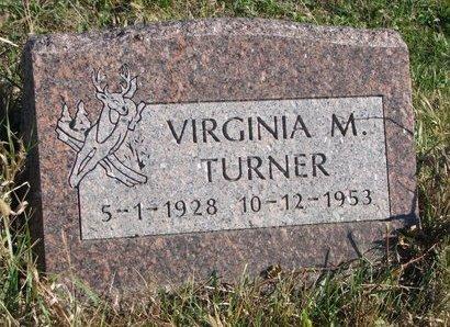 TURNER, VIRGINIA M. - Thurston County, Nebraska | VIRGINIA M. TURNER - Nebraska Gravestone Photos