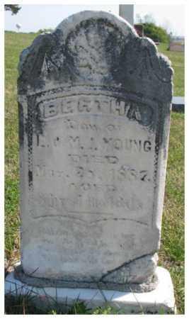 YOUNG, BERTHA - Thurston County, Nebraska   BERTHA YOUNG - Nebraska Gravestone Photos