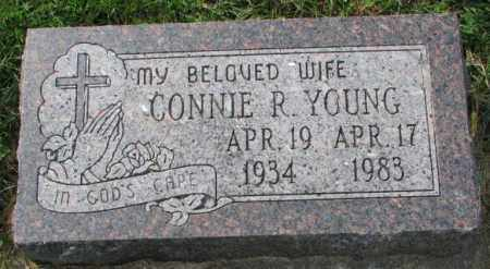 YOUNG, CONNIE R. - Thurston County, Nebraska   CONNIE R. YOUNG - Nebraska Gravestone Photos