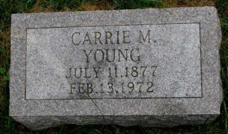YOUNG, CARRIE M. - Thurston County, Nebraska | CARRIE M. YOUNG - Nebraska Gravestone Photos
