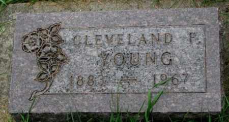 YOUNG, CLEVELAND F. - Thurston County, Nebraska   CLEVELAND F. YOUNG - Nebraska Gravestone Photos