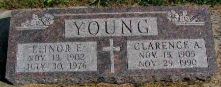 YOUNG, ELINOR E. - Thurston County, Nebraska | ELINOR E. YOUNG - Nebraska Gravestone Photos