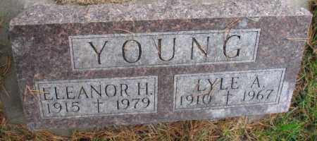 YOUNG, ELEANOR H. - Thurston County, Nebraska | ELEANOR H. YOUNG - Nebraska Gravestone Photos