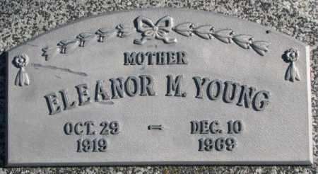 YOUNG, ELEANOR M. - Thurston County, Nebraska | ELEANOR M. YOUNG - Nebraska Gravestone Photos