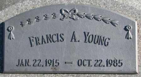 YOUNG, FRANCIS A. - Thurston County, Nebraska | FRANCIS A. YOUNG - Nebraska Gravestone Photos