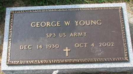 YOUNG, GEORGE W. (MILITARY) - Thurston County, Nebraska | GEORGE W. (MILITARY) YOUNG - Nebraska Gravestone Photos
