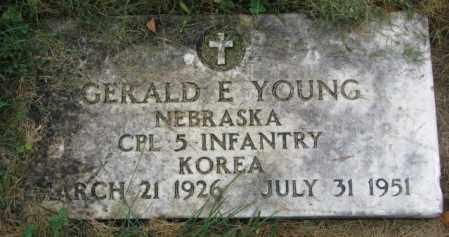 YOUNG, GERALD E. - Thurston County, Nebraska | GERALD E. YOUNG - Nebraska Gravestone Photos