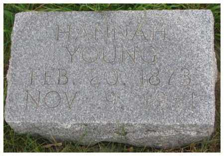 YOUNG, HANNAH - Thurston County, Nebraska | HANNAH YOUNG - Nebraska Gravestone Photos