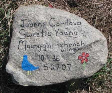 YOUNG, JOANNE - Thurston County, Nebraska | JOANNE YOUNG - Nebraska Gravestone Photos
