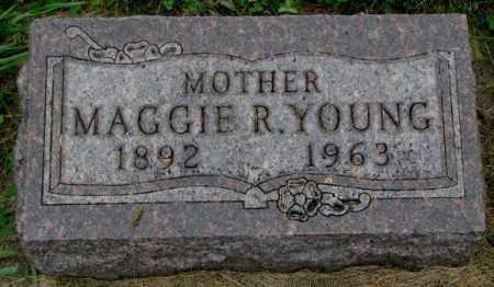 YOUNG, MAGGIE R. - Thurston County, Nebraska   MAGGIE R. YOUNG - Nebraska Gravestone Photos