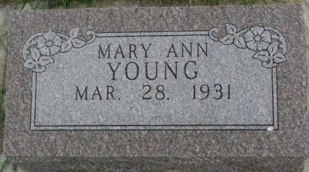 YOUNG, MARY ANN - Thurston County, Nebraska | MARY ANN YOUNG - Nebraska Gravestone Photos