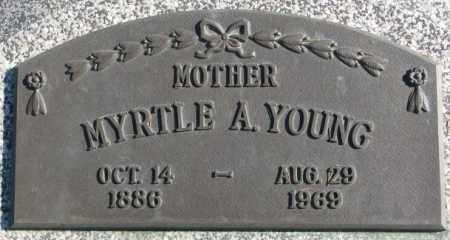 YOUNG, MYRTLE A. - Thurston County, Nebraska | MYRTLE A. YOUNG - Nebraska Gravestone Photos