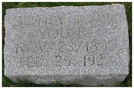 YOUNG, SIDNEY MILES - Thurston County, Nebraska   SIDNEY MILES YOUNG - Nebraska Gravestone Photos