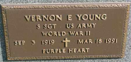 YOUNG, VERNON E. (WW II MARKER) - Thurston County, Nebraska | VERNON E. (WW II MARKER) YOUNG - Nebraska Gravestone Photos