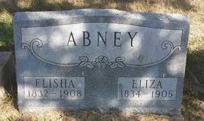 ABNEY, ELIZA - Valley County, Nebraska | ELIZA ABNEY - Nebraska Gravestone Photos