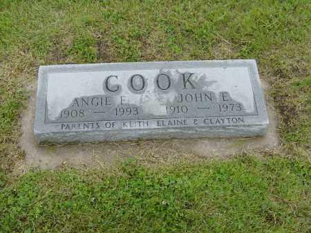 COOK, JOHN E. & ANGIE E. - Valley County, Nebraska | JOHN E. & ANGIE E. COOK - Nebraska Gravestone Photos
