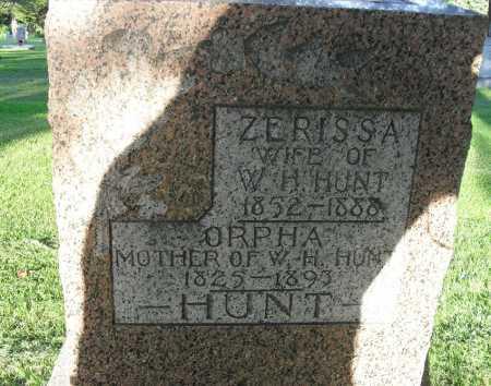 HUNT, ORPHA - Valley County, Nebraska   ORPHA HUNT - Nebraska Gravestone Photos