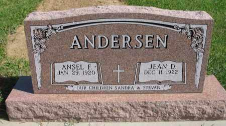 ANDERSEN, ANSEL FREDERICK - Washington County, Nebraska | ANSEL FREDERICK ANDERSEN - Nebraska Gravestone Photos